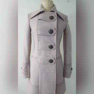 Iceberg womens wool duffle style gray-beige coat